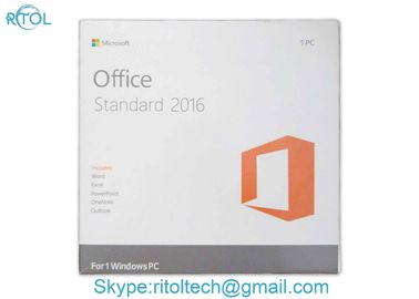 Retail Package Microsoft Office Key Code 2016 Pro Standard DVD Key Card English Version