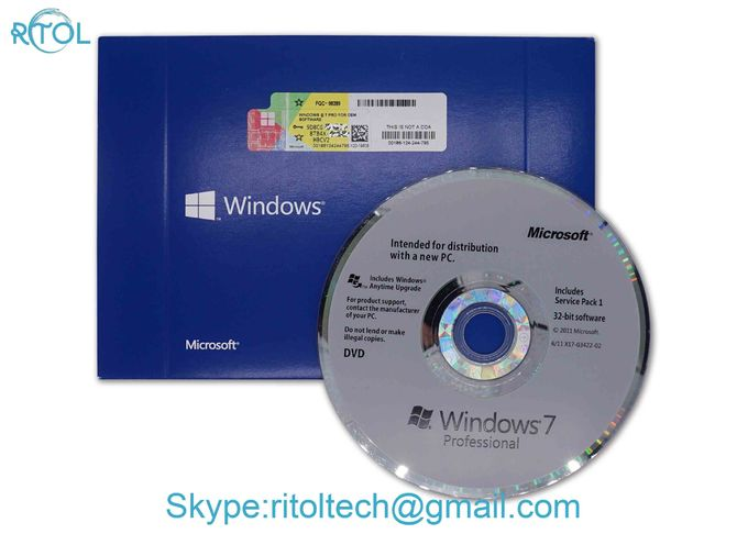 32 / 64 Bit PC System Software Windows 7 Pro Software OEM 1 PC Only